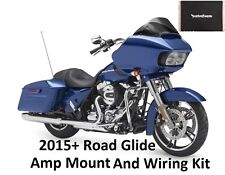 2015+ Harley Road Glide amp mount and wiring kit Rockford pbr300x2 pbr300x4