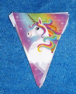 Unicorn Flag Banner Magical Unicorn Birthday Party Decor Photo Scene Decor 12 ft