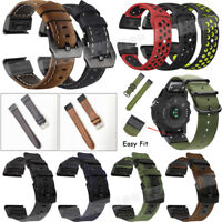 20mm 22mm 26mm Quick Band for Garmin Fenix 5X 5S 3 5 Strap Leather/Nylon Belts