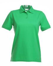 Mint Green Ladies Polo Shirt Kustom Kit Cotton Short Sleeve Top Size 10 KK703