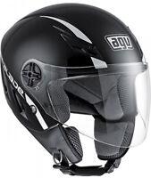 Casco Helmet Demi Jet Capacete AGV Blade Solid Nero Black Lucido GlossTaglia L