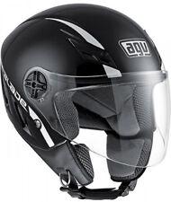 Casco Helmet Demi Jet Capacete AGV Blade Solid Nero Black Lucido GlossTaglia XL