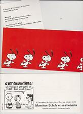SNOOPY. SCHULZ et ses Peanuts. Lot de 2 cartes d'invitation.