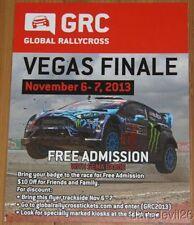 2013 Ken Block Ford Fiesta Las Vegas GRC Global RallyCross postcard