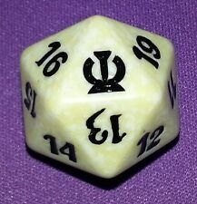 5 White SPINDOWN Dice Theros, 20 sided Spin Down Die MtG Magic the Gathering d20