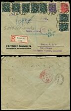 Germania 1923 inflazione registrato... 9 FRANCOBOLLI MULLER PERFINS
