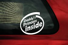 2x Daddy's Princess Inside BABY GIRL, Bambini, Kids On Board Adesivo Auto
