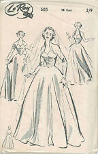 "Vintage Bridal Gown Dress Sewing Pattern L503 Bust 38"""