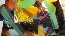 2 lbs Scrap Glass for Mosaics Stained Glass all sizes shapes textures and Mfgs.