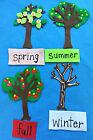 *TEACH SCIENCE* THE SEASONS OF AN APPLE TREE FLANNEL FELT BOARD STORY SET