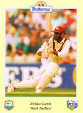BUTTERCUP 1995 BRIAN LARA Bat WEST INDIES, ACB Australian Cricket Card