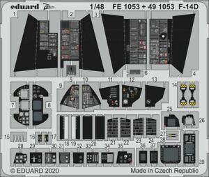 Eduard PE 491053 1/48 Grumman F-14D Tomcat Interior details AMK