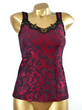 Arianne - SIZE S - Top Camisole Corsage 5014 Veronica, Color: Ruby