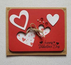 Handmade Valentine's Day Card Kit  4 cards w/envelopes