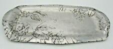 Vintage Wendell August Forge Hand Hammered Aluminum Tray, Floral Design #705