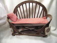 Boyds Bears Brooke'S Willow Wood Settee Doll/Bear Furniture with Tag