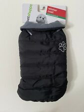Pet Shoppe Dog Winter Coat Jacket XS S Black 12-19 lbs Fleece Lined