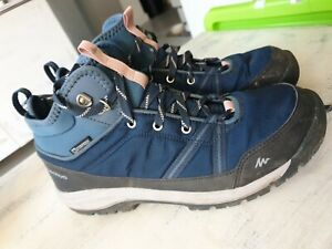 Quechua Decathlon Ladies Walking Waterproof Shoes 7 Blue