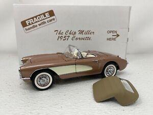 1/24 Danbury Mint 1957 Chip Miller Collection Corvette Bronze