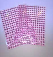 New Pink Gem Stickers 504 self adhesive rhinestone gems Cardmaking Art & Craft