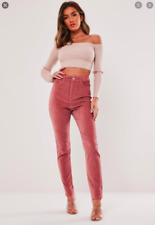 BNWT MISSGUIDED BLUSH SINNER HIGH WAISTED MICRO CORD SKINNY JEANS SIZE 8 RRP £26