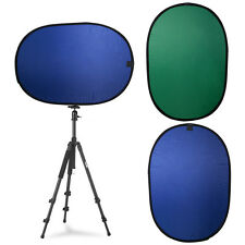 5x7ft Collapsible Backdrop Reversible Background Panel Popup Screen Green Blue