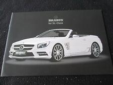 2013 Mercedes BRABUS SL-class Spoiler Wheel Brochure SL500 SL63 AMG Catalog