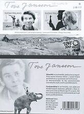 Finland 2014 MNH Sheet - Tove Jansson 100 Years - Author of Moomin Troll