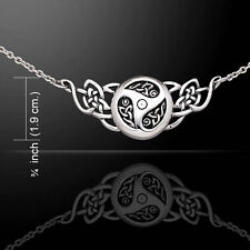 Celtic Knots Triskele .925 Sterling Silver Necklace by Peter Stone