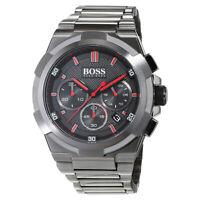 100% New Hugo Boss 1513361 Supernova Grey Dial Black Stainless Steel Men's Watch