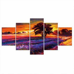 Countryside Scene Painting 5 piece HD Poster Art Wall Home Decor Canvas Print