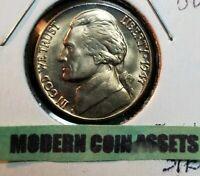 1947-D Full Step Ch/Gem BU Jefferson Nickel