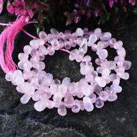 Details about  /65.00 Cts 14 Inches Natural Drilled Pink Rose Quartz Untreated Beads Strand