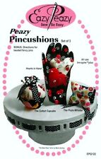 Peazy Pincushions - Pattern by Margaret Travis - Heart in Hand, Cupcake, Posie