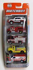 Matchbox EMT Emergency Fire Truck 5-Pack Die-Cast Mattel