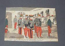 CPA CARTE POSTALE 1903 MILITARIA HUMORISTIQUE INSPECTION DU GENERAL