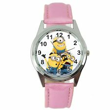 THE MINIONS MINION PINK LEATHER FILM MOVIE CINEMA DVD FAIRY TALE SS WATCH GIFT