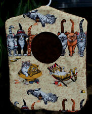 Clothes Pin Bag Holder Beach Cats Kittens Animals Handmade Laundry