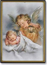 "Guardian Angel with Lantern Magnetic Frame  2.25"" by 3"" NEW SKU FM-012"