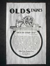 "(756L)VINTAGE REPRINT ADVERT OLDS HIT & MISS GAS GASOLINE ENGINE 1907 AD 11""x17"""