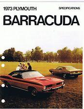 1973 PLYMOUTH BARRACUDA DATA  MANUAL, (RARE DEALER ITEM) unreserved!!