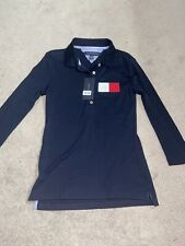 NWT Tommy Hilfiger Polo Shirt Navy Red White XS