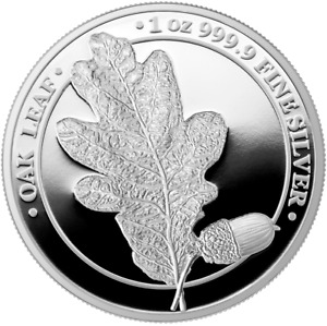 Germania 2019 5 Mark The Oak Leaf Proof 1 Oz 999 Silver Coin
