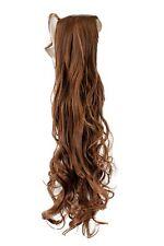 Natte Cheveux Peigne+Bändchen blond châtaigne brun clair ondulés 63 cm