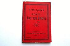 ROYAL AUCTION BRIDGE LAWS OF GILDED EDGES DE LA RUE ANTIQUE PLAYING CARDS