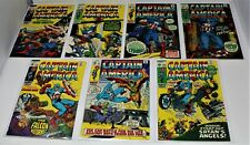 CAPTAIN AMERICA #121, 123-128 BRONZE AGE MARVEL LOT CGC VG TO F/VF