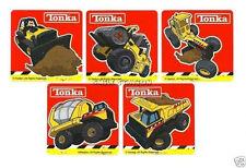 15 Tonka Construction Trucks Stickers Party Goody Loot Bag Filler Favor Supply