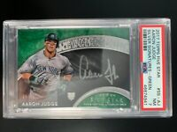 Aaron Judge 2017 Topps Five Star Rookie Auto Green Silver Signatures #9/15 PSA 7