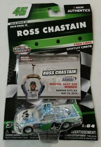 Ross Chastain #45 NASCAR Authentics 2019 Wave 10 1:64 Diecast Truck Kansas Win