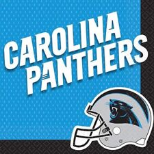 One Pack Of 36 Carolina Panther Nfl Football 12 7/8 In.² Napkins